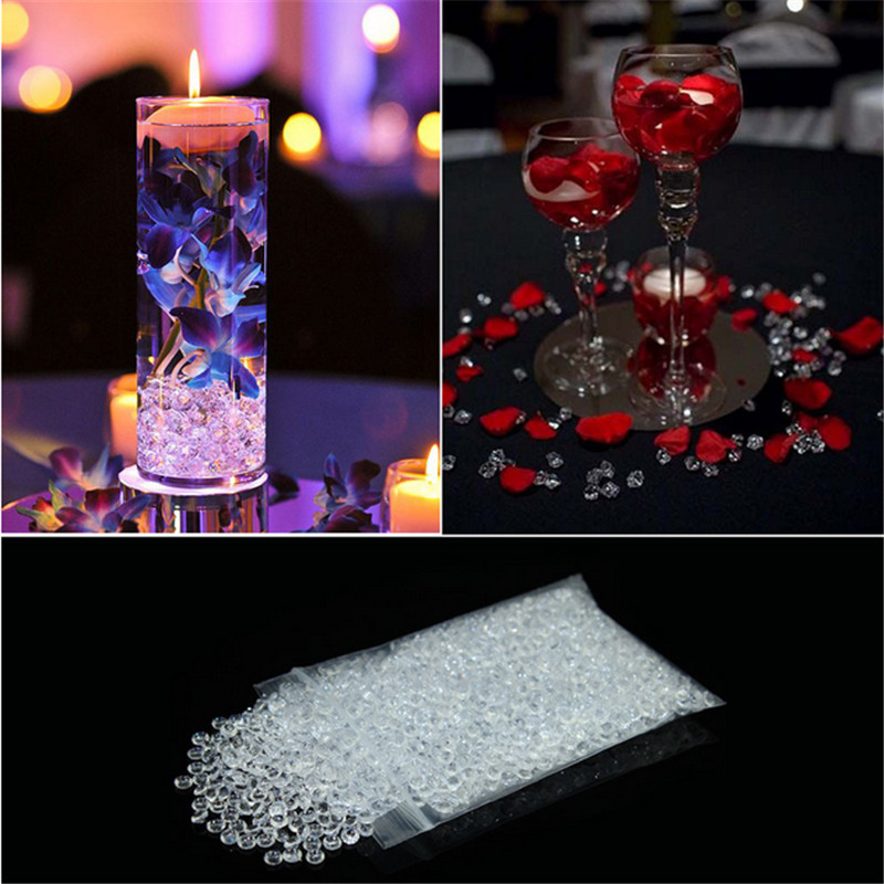 4.5mm Diamant Cristal De Confettis Acrylique DIY Mariage Table De Scatter D/écoration 2000Pcs