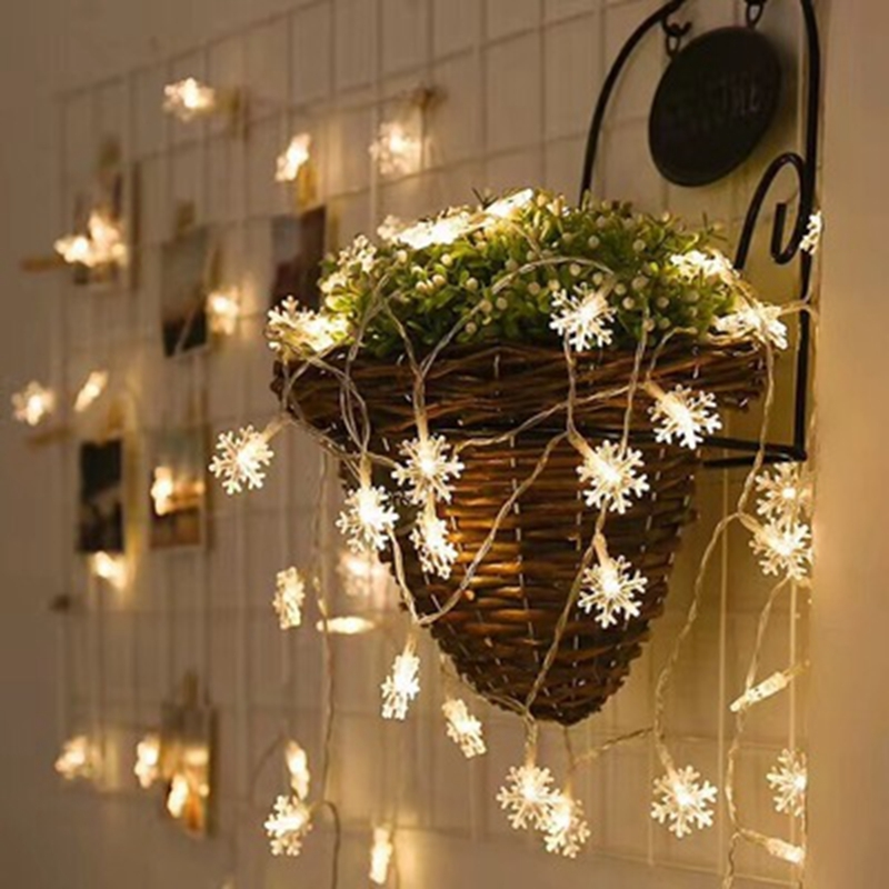 3M 20 Led Snowflakes Light String Christmas Decoration For Home Holiday Wedding Decor Party Supplies Y18102609
