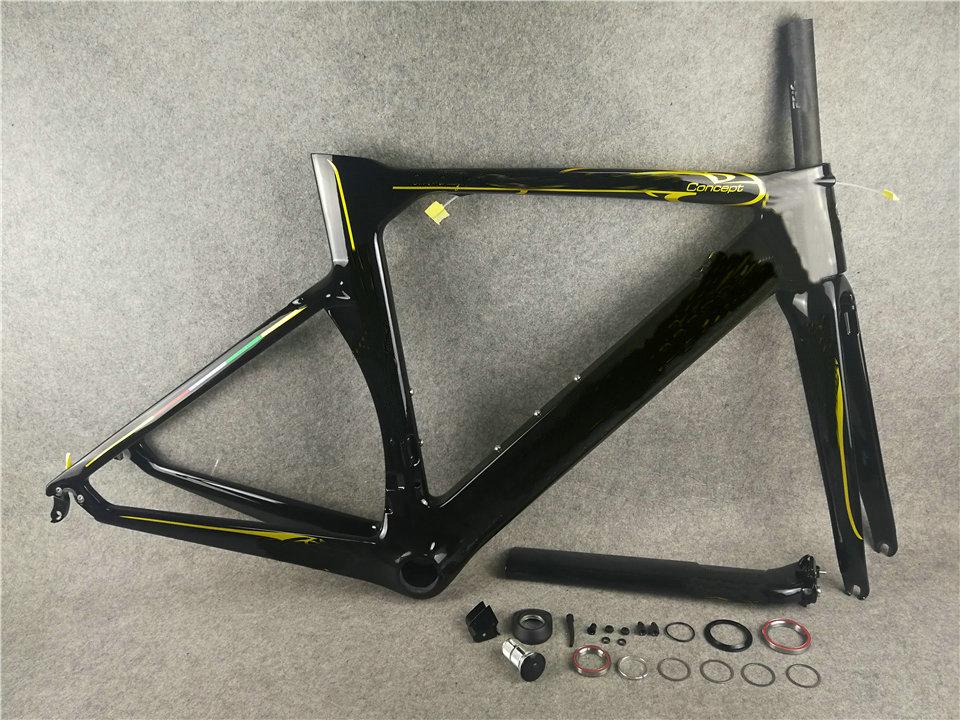 Gold Colnago Concept Carbon Road Frame