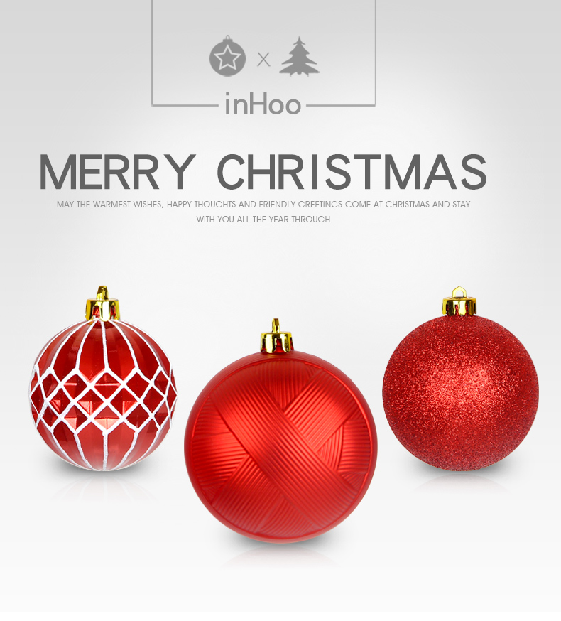 01 inhoo Christmas Tree Decoration Balls Ornaments Pendant Accessories 50pcs Red and white ball Decor For Christmas Home Party 2019