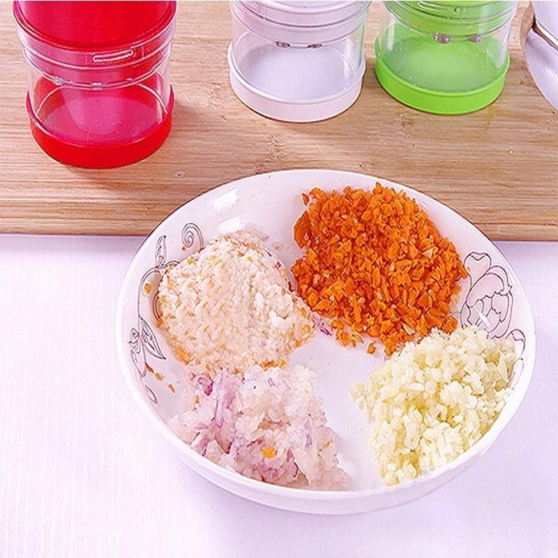1pc Multi-functional Hand Chopper Plastic Garlic Presses Fruit Salad Vegetable Onion Chopper Cutter Garlic Grinding Kitchen Hand Tool (9)