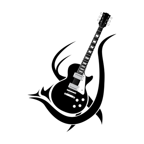 Tribal Guitar Men S Black And White Three Color Large Size Cotton