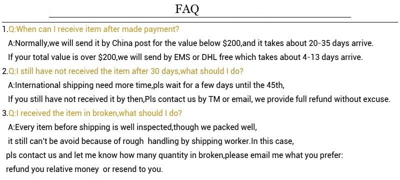 buyer FAQ