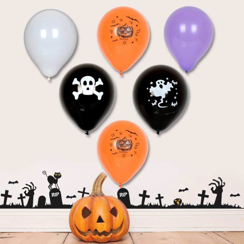 / set Pumpkin Ghost Balloons Decorazioni del cranio di Halloween Palloncini in lattice Giocattoli gonfiabili Rifornimenti del partito di Halloween i bambini