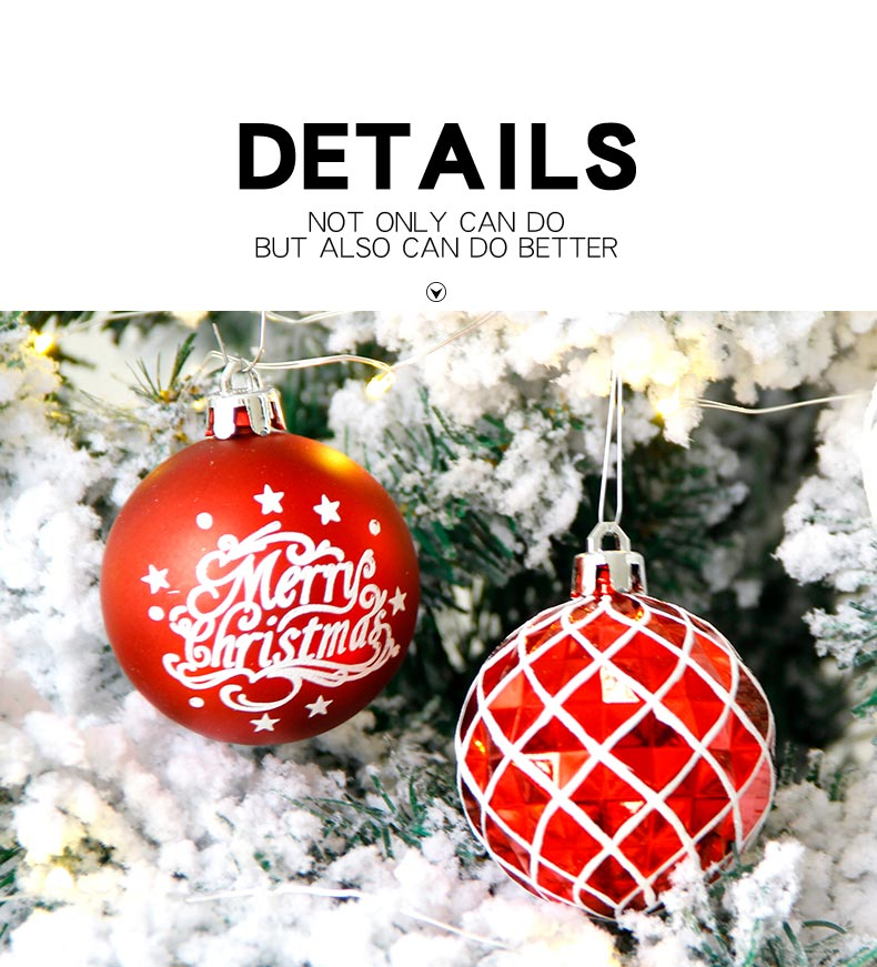 09 inhoo 20pcs Christmas Tree Ornament Balls plastic 6cm Xmas Baubles Accessories Christmas Decorations For Home Party Gift