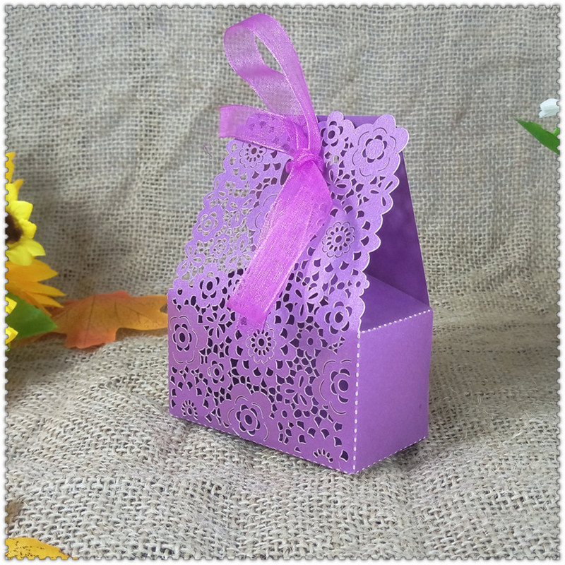 wedding candy gift box ribbon party Christmas candy box birthday party decoration baby shower 6ZT21
