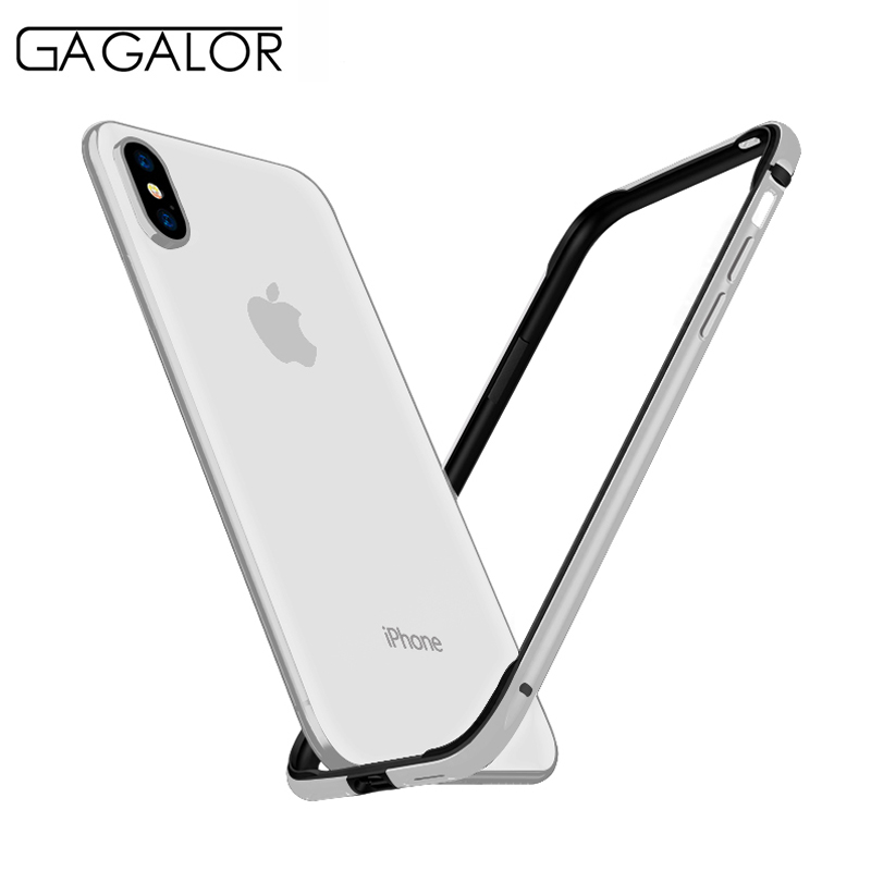 GAGALOR phone case metal bumper for iPhone XS 5.8 with silicone lining aluminium alloy material for iPhoneXS silver 1