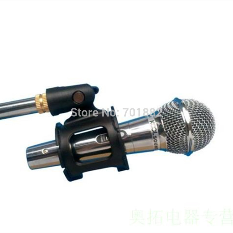 Shotgun Microphone Mic Suspension Shock Mount Pencil Clamp (6)