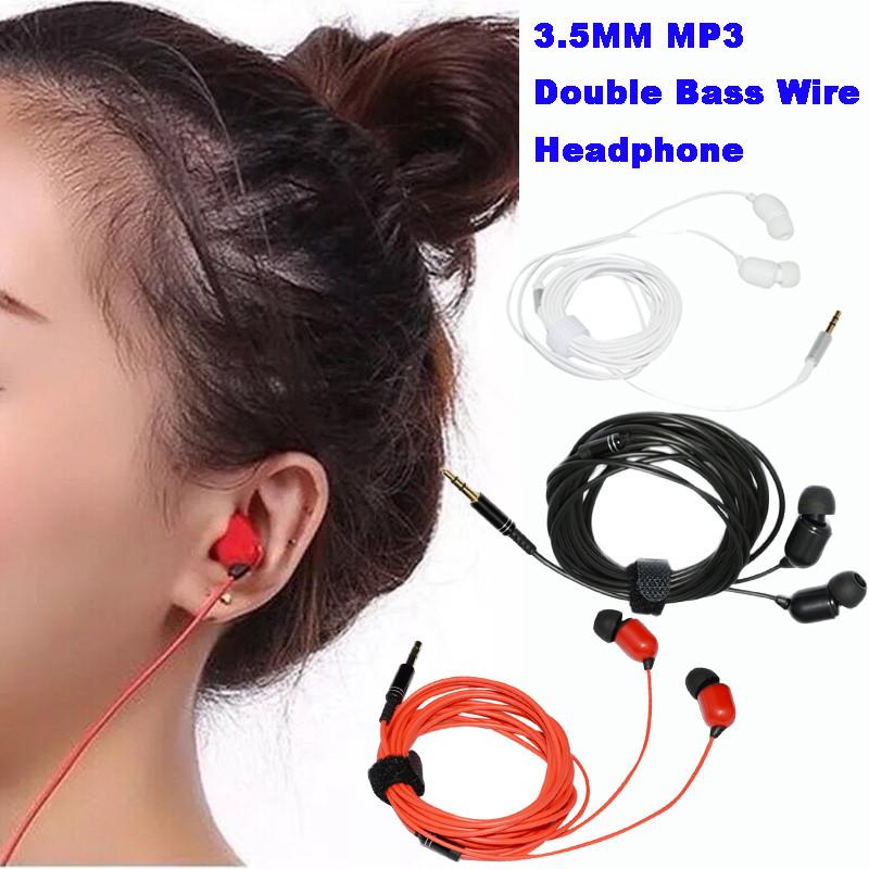 3.5mm mp3 contrebasse 3 mètres de long fil casque écouteur