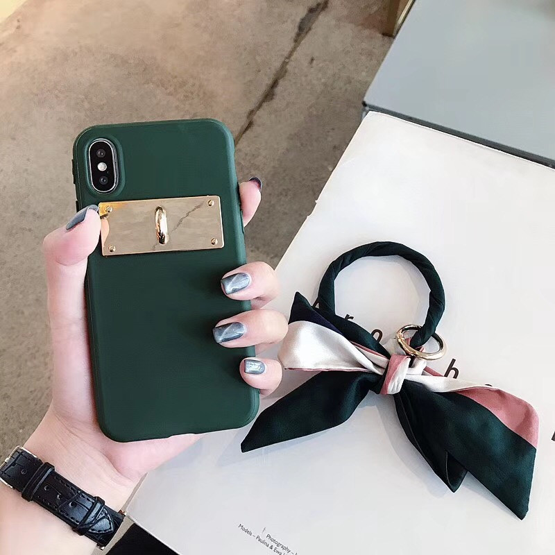 LUDI Luxury Silk Scarf Bow-knot Phone Case for iPhone XS MAX X Phone Cases for iPhone 678 Plus Soft Silicon Retro Fundas Capas03
