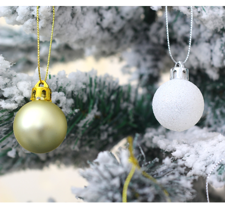 09 inhoo 50pcsset White gold balls Christmas Tree Decoration Ball Ornaments Pendant Accessories Decor For Christmas Home Party