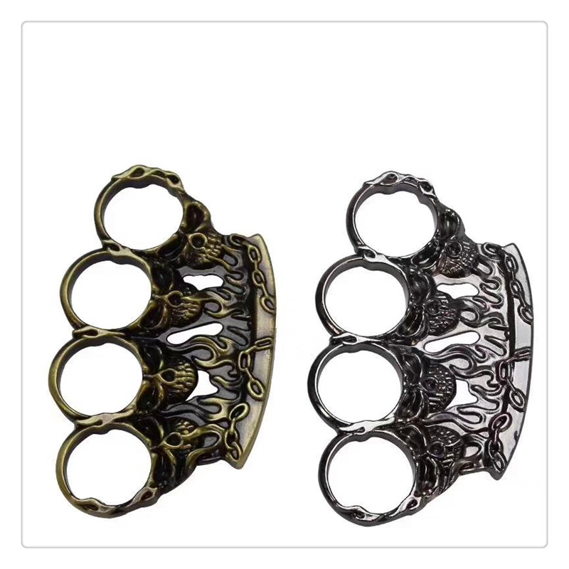 Brass Knuckles Thin Shape Equipment Steel Brass Knuckle Duster Self Defense Tool Brass Knuckle Self Defense Pendant