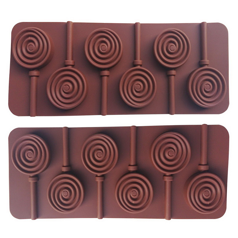 100× Candy Sucker Papier Stöcke Schokoladenkuchen Lollipop Lolly Maker heiß