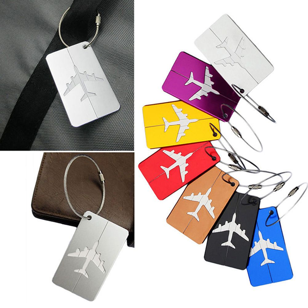 PU Leather Luggage Tags Dragon Ball Vegeta Suitcase Labels Bag Adjustable Leather Strap Travel Accessories Set of 2