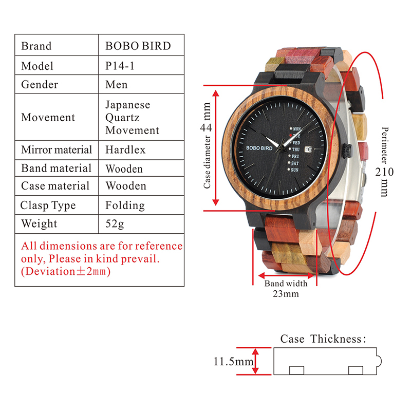 wooden watches for men bobo bird wrist watch (60)