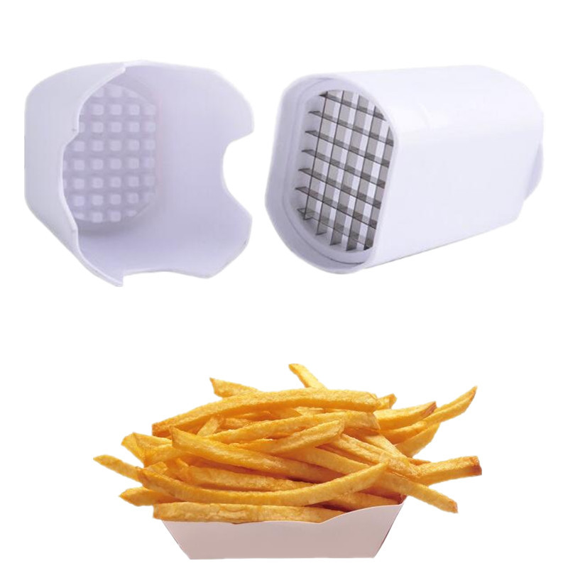 Portable Fries Cutter French Fries Potato Chips Cutter Vegetable Fruit Natural Cutting Slicer Kitchen Cooking Tool Accessories