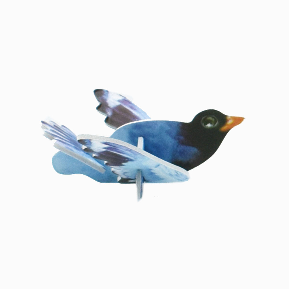 Wholesale Mini Cartoon Birds Animal Model Paper 3D Puzzles Toys for Children Gift Intelligence Toys