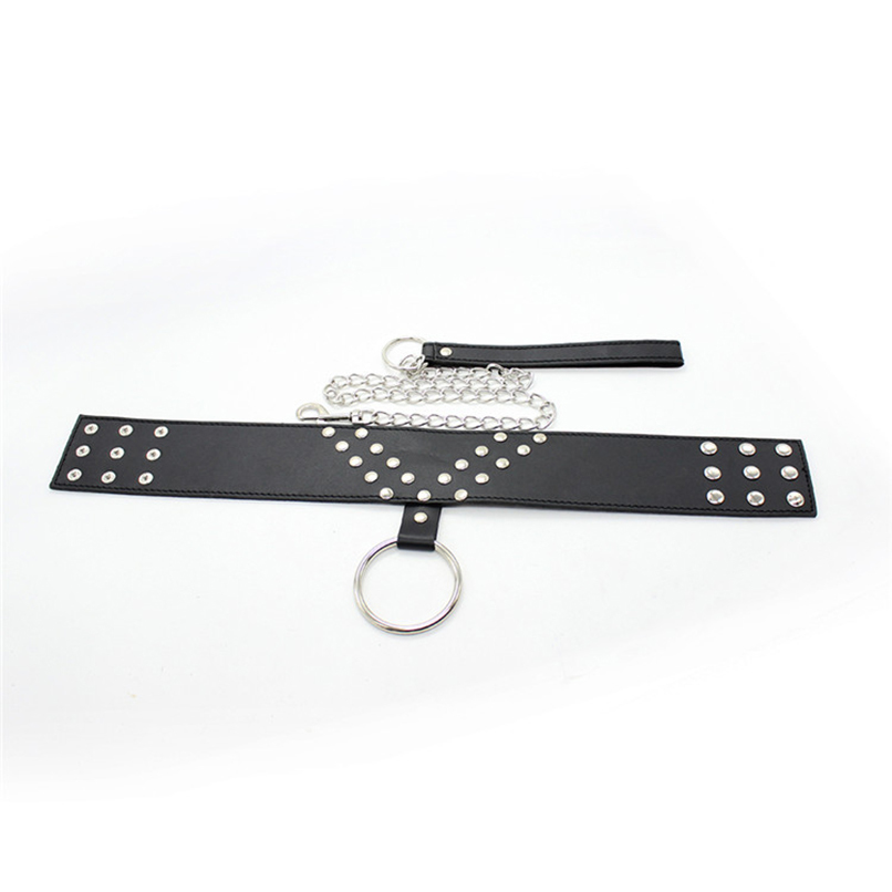 New Neck Collar with Leash Rings Chain Bondage Restraints Gear BDSM S&M Flirting Sex Toy Cosplay PU Leather Fetish Sex Product