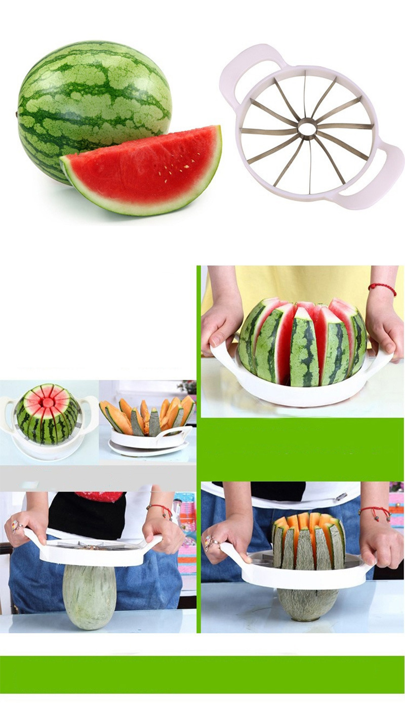 Kitchen gadgets 2018 Summer Stainless Steel Watermelon Sliced cutter knife fruit Slicer Salad Making tools kitchen accessories (14)