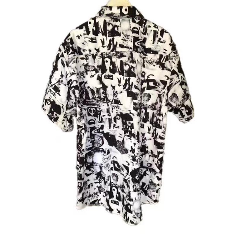 New Box Logo Vibrations Rayon Shirts Short Sleeve Nostalgic Vintage Hawaiian T-shirt Casual Street Summer Cool Beach Holiday Tee HFYMTX352