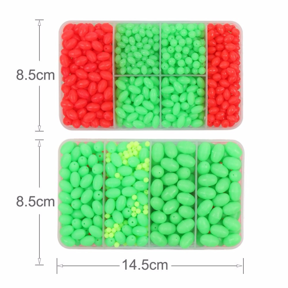 Hard Plastic Oval Shaped Fishing Beads Fish Round Beads Fishing Lures Biats Beads Fishing Tackle Tools Eggs for Saltwater Fishing (6)