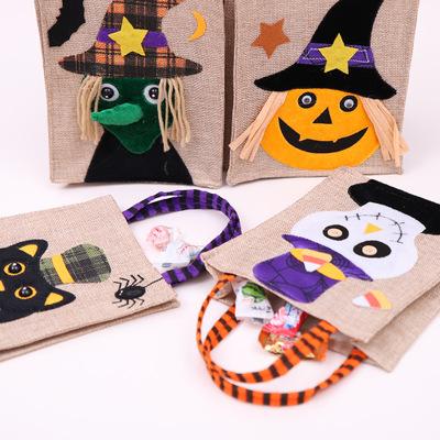 Weihnachten Halloween Große Größe 26 * 15 cm Geschenk Taschen Halloween Dekoration Leinen Kürbis Tote Einkaufszentrum Hotel Cookies Apple Geschenkbeutel