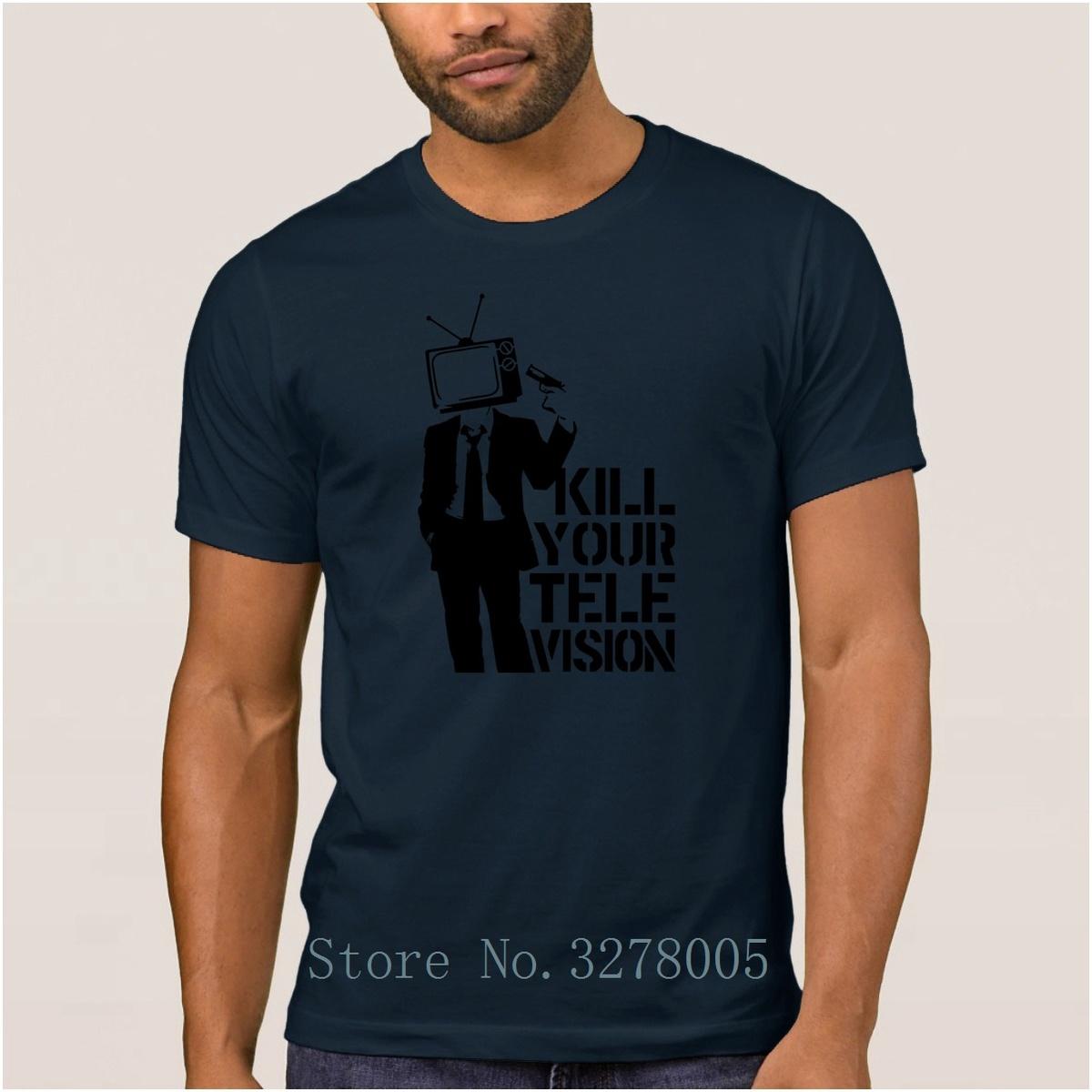 Brand La Maxpa Fitness Famous T Shirt Kill Your Television Vector Men T-Shirt 2018 Plus Size 3xl Gents Regular Tshirt For Men