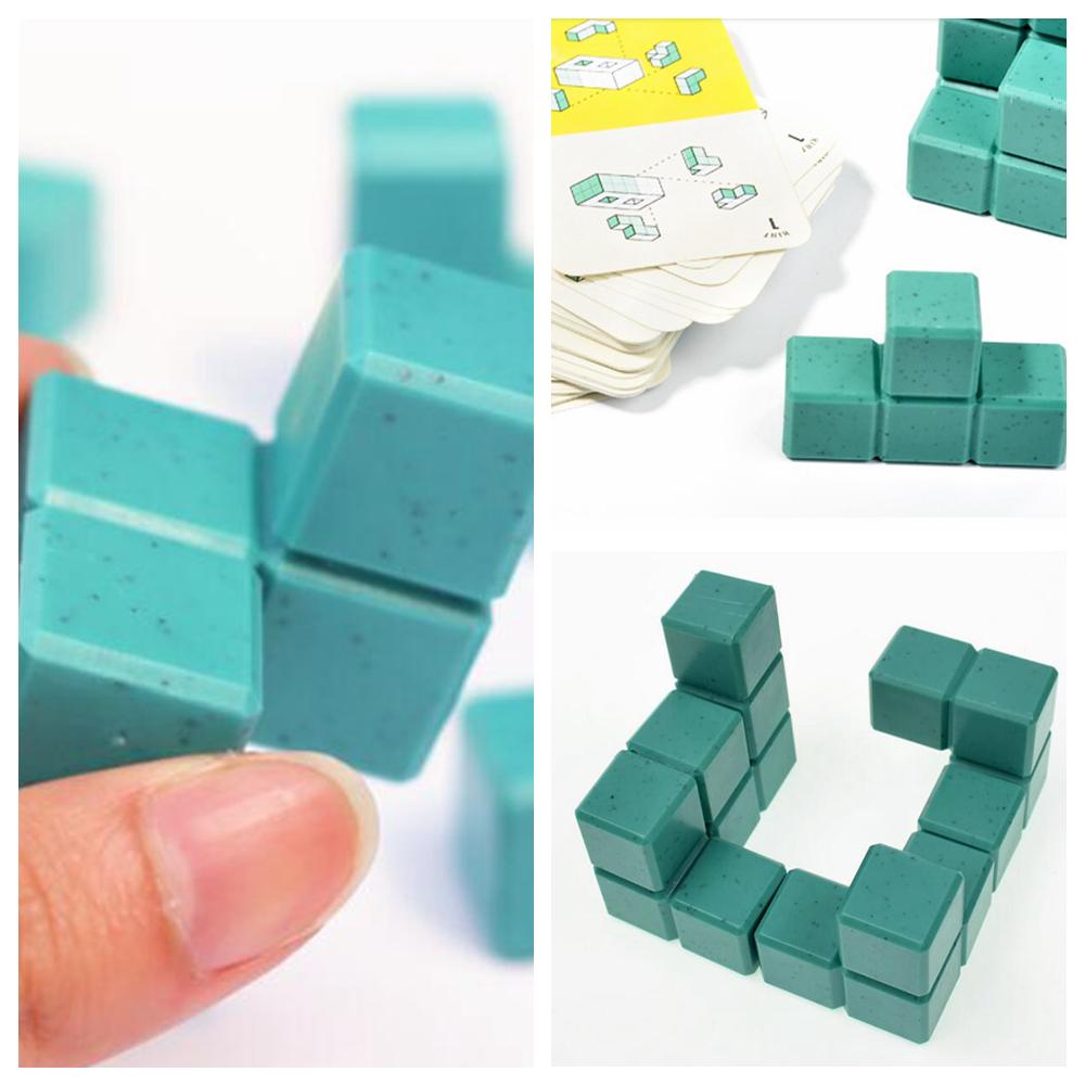 Модель 3D строительные блоки детей проявлять логическое мышление головоломки игрушки дети подарок игра Дом куб пространство FFA887