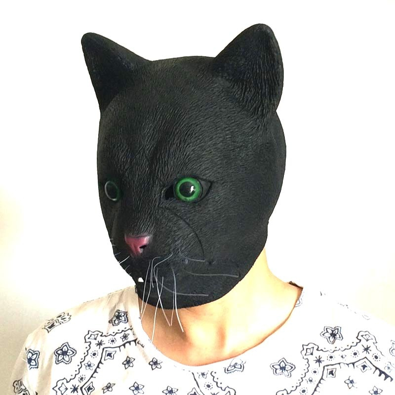 Halloween Realistic Latex Masks Scary Cosplay Mask Full Face Horror Masquerade Party Cat Face Adult Props For Festival Easter