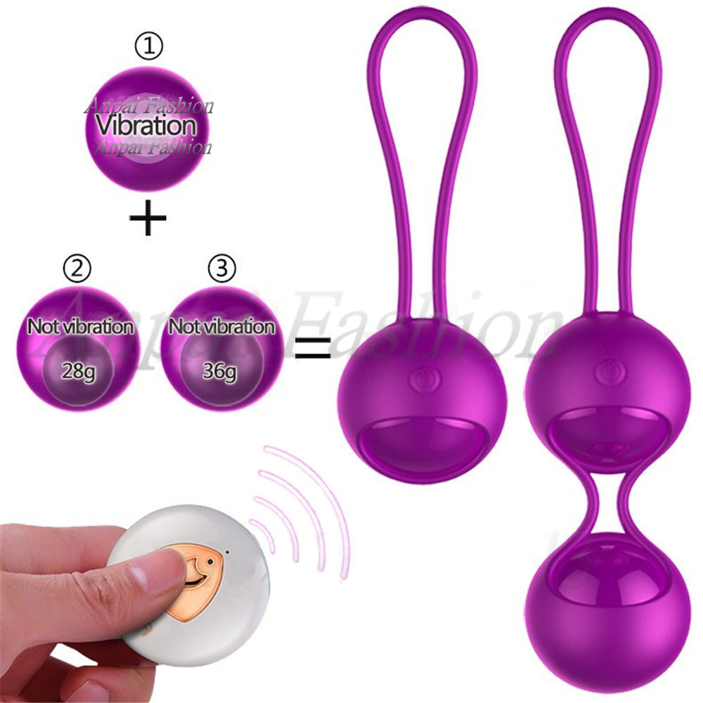 FOX Remote Control Smart Touch Vibrators Kegel Exercise Ben Wa Balls Vaginal Trainer Vibrating Egg Vibrador Sex Toys for Woman Y18102605