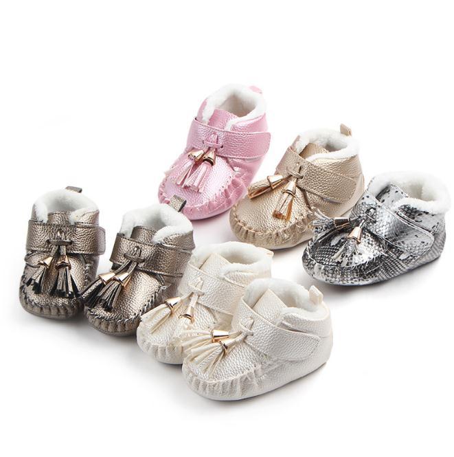 Newborn Baby Boys Girls Boots Booties Crib Bebe Footwear Super Warm Tassel Winter Snow First Walker Infant Toddler Fashion Shoes