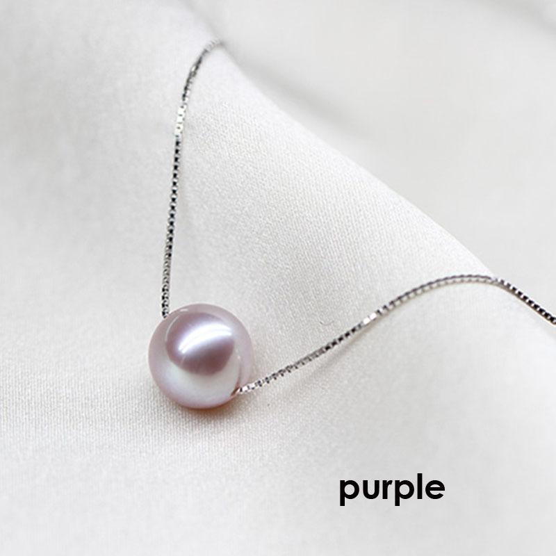Popular freshwater pearl pendants jewelry women,genuine natrual pearl pendant fine jewelry 925 silver mother trendy necklaceY1883008