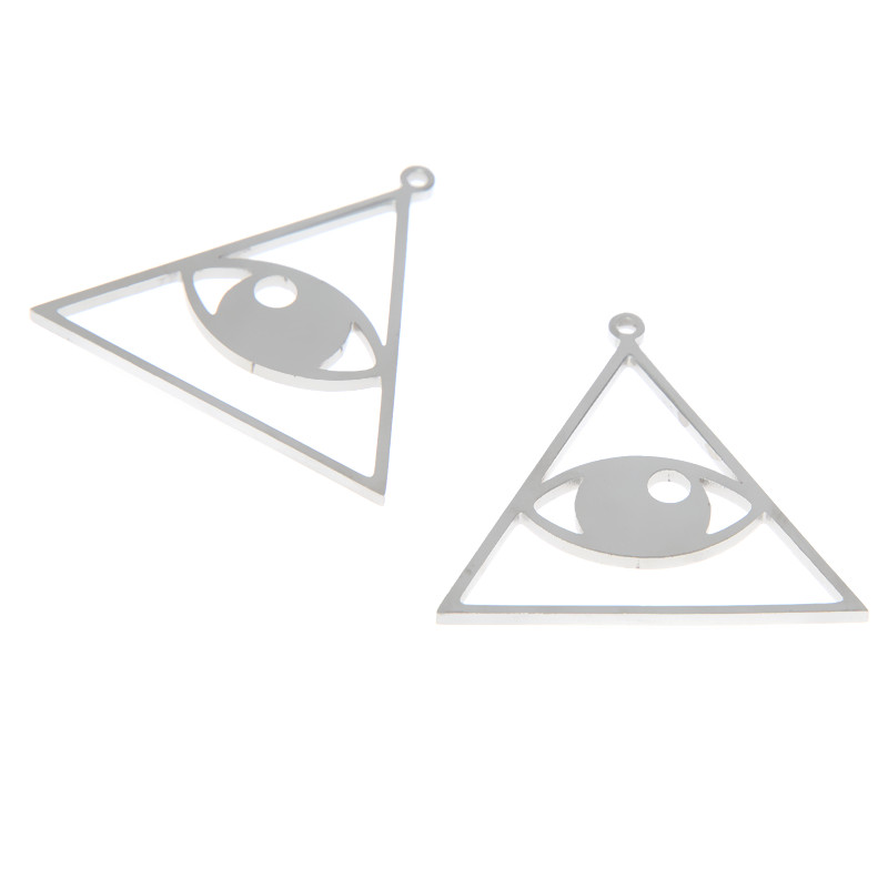 50pcs--Triangle Charms bronze Mini Triangle Charm Pendants making 13X13mm