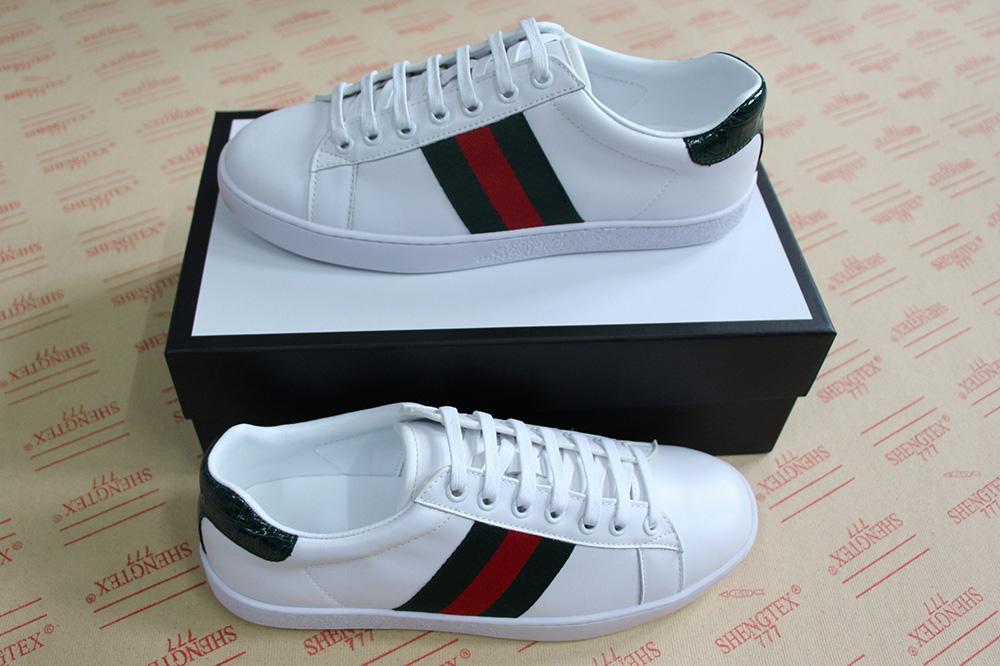 Neuer Mann Frauen Luxus Designer Schuhe blau rot Streifen mit Top Qualität neuer Upgrade Version lässig ace Schuhgröße 34 46