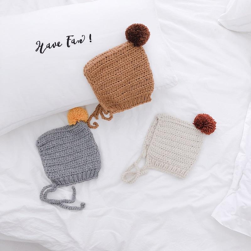 Doux bébé garçons filles Poulet Chapeau Crochet Tricot Photo Photography Prop