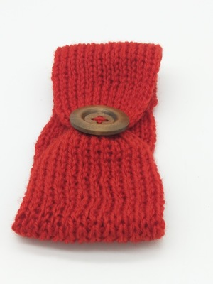 Baby Girls Party Fashion Wool Crochet Headband Knit Hairband with Button Decor Winter Newborn Infant Ear Warmer Head Headwrap