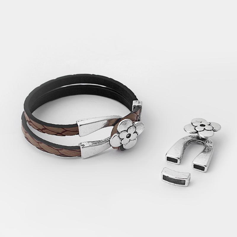 2mm magnético broches de la pulsera de cuero cordón casquillos de extremo para joyería haciendo 10 un