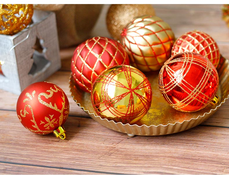 12 inhoo 20pcs Christmas Tree Ornament Balls plastic 6cm Xmas Baubles Accessories Christmas Decorations For Home Party Gift