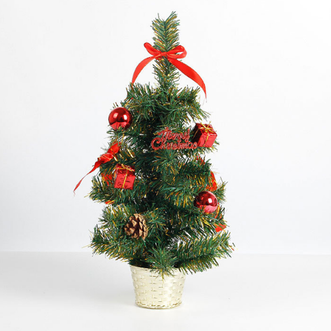 Creative 45CM Altezza Tavolo Top Albero di Natale Xmas Party Ufficio appeso Decorazione Ornamenti i