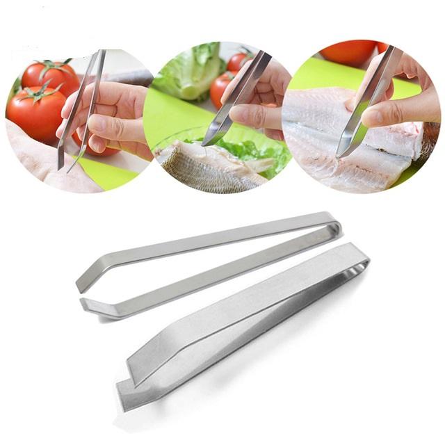Acier Inoxydable Fish Bone Pince à épiler//Volaille épilateur et Accueil Cuisine Gadgets