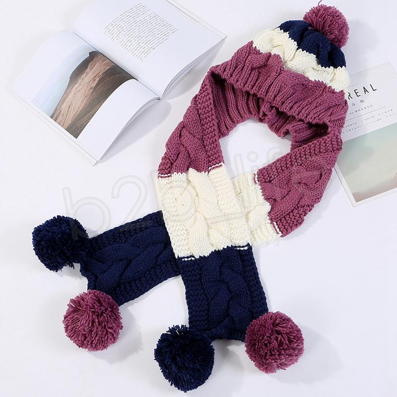 Femmes Écharpe À Capuche Foulard En Laine D'hiver Tricoté Earflap Chapeaux Écharpes Capuche Snood Wraps Crochet et Chapeau GGA1076