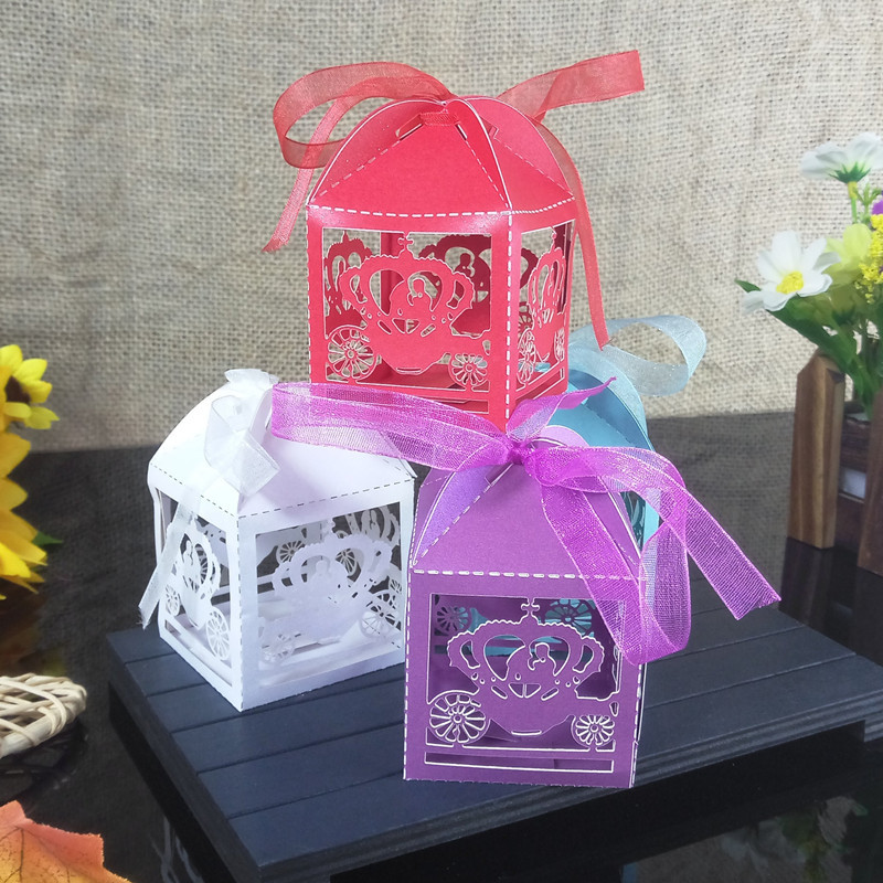 Crown Candy Box Gift Box Christmas Halloween Holiday Party Candy Box Wedding Party Baby Shower 5ZT15