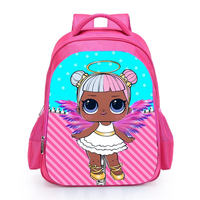 Kids Pink Backpack LOL School Bag for Girls Cute Custom Name Print Schoolbag personalized Book Knapsack mochila Birthday Gift (6)
