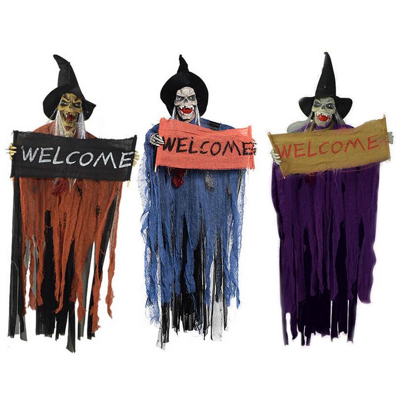 Feste Besondere Anlasse Halloween Deko Hexe Figur Mit Hut Tur Fensterdeko Turanhanger Herbstdeko Onebitjr Com Br