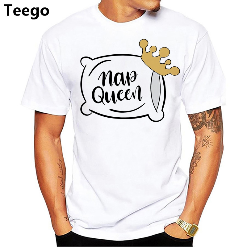Nap Rainha Tshirt homens Verão 2018 Gráfico Dos Desenhos Animados T homens Tops Hipster Tumblr T-shirt Branca Harajuku Camiseta