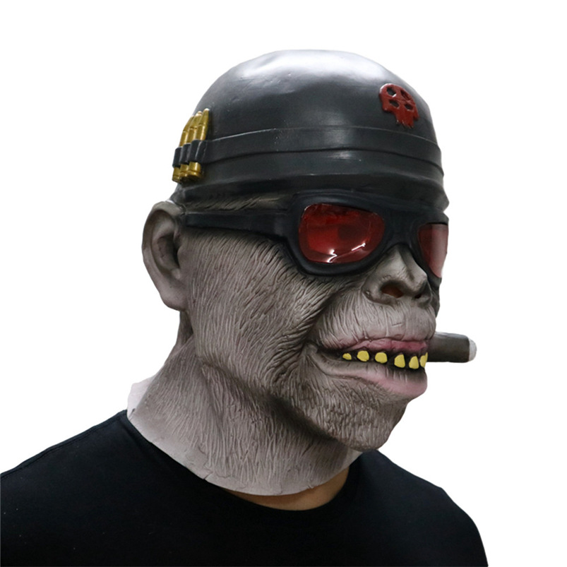 Gorilla Monkey Smoking Halloween Mask Horrible Latex Nun Venom Mask Melting Face Costume Halloween Masquerade Freeshipping #FO03 (2)
