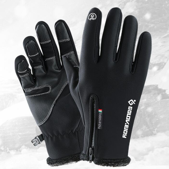 Warme Handschuhe Herren Winddicht Anti-Rutsch-Motorrad-Handschuhe Verdickung Plus SAMT Reiten Ski-Handschuhe