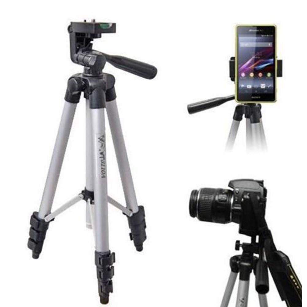 Compatible With Most Mobile Phones Up To 60-inch Expandable Tripod Digital Cameras And Self-timer Videos And Mot Mobile Phone Holder Digital SLR Cameras With Phone Clip-on Mounting Camera Tripod