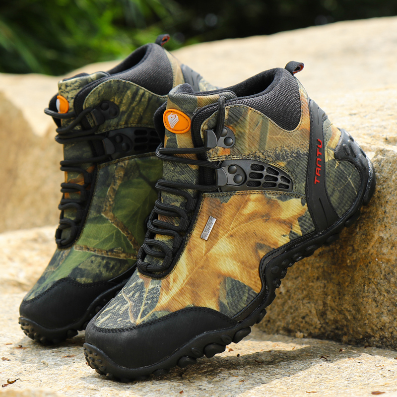 Men Winter Outdoor Waterproof Mountaineering Shoes Wear-resistant Boots Resistant Breathable Climbing Safety Shoes EUR40-46