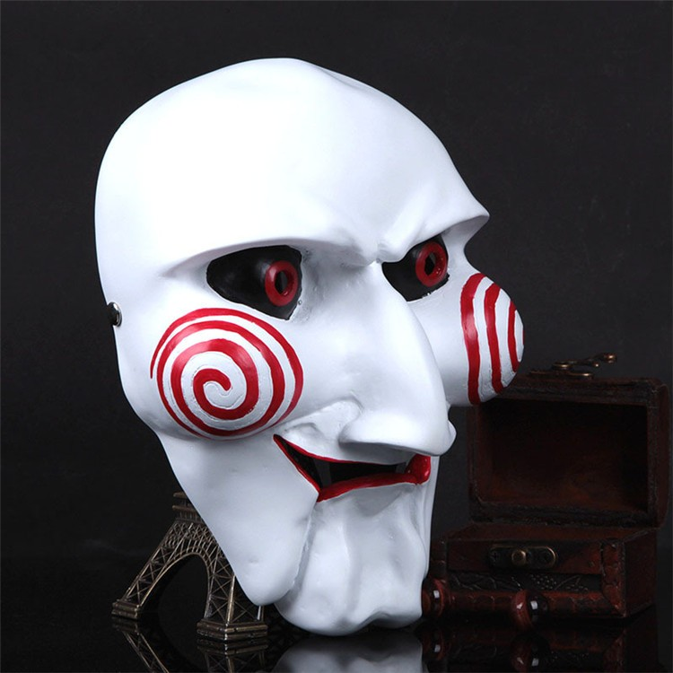 NEW Halloween Gift Electric Saw Mask Cosplay Party Horror Movie men Adult Full Face Mask Creepy Scary Resin High quality FA34 (6)